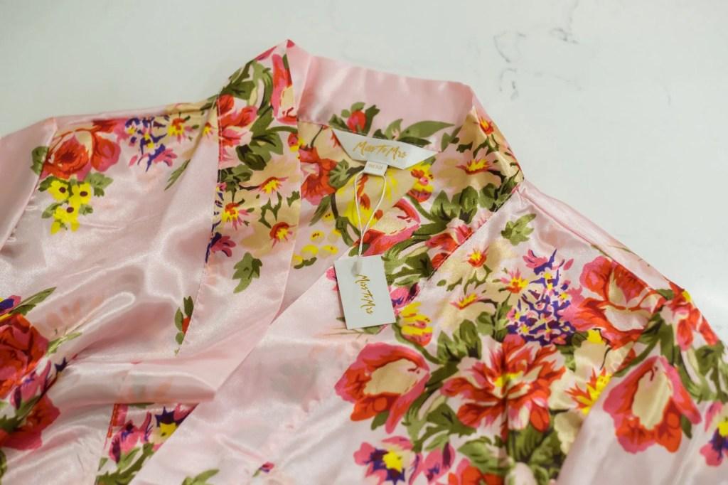 Pink Silk Floral Robe