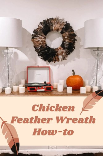 Chicken Feather Wreath How To
