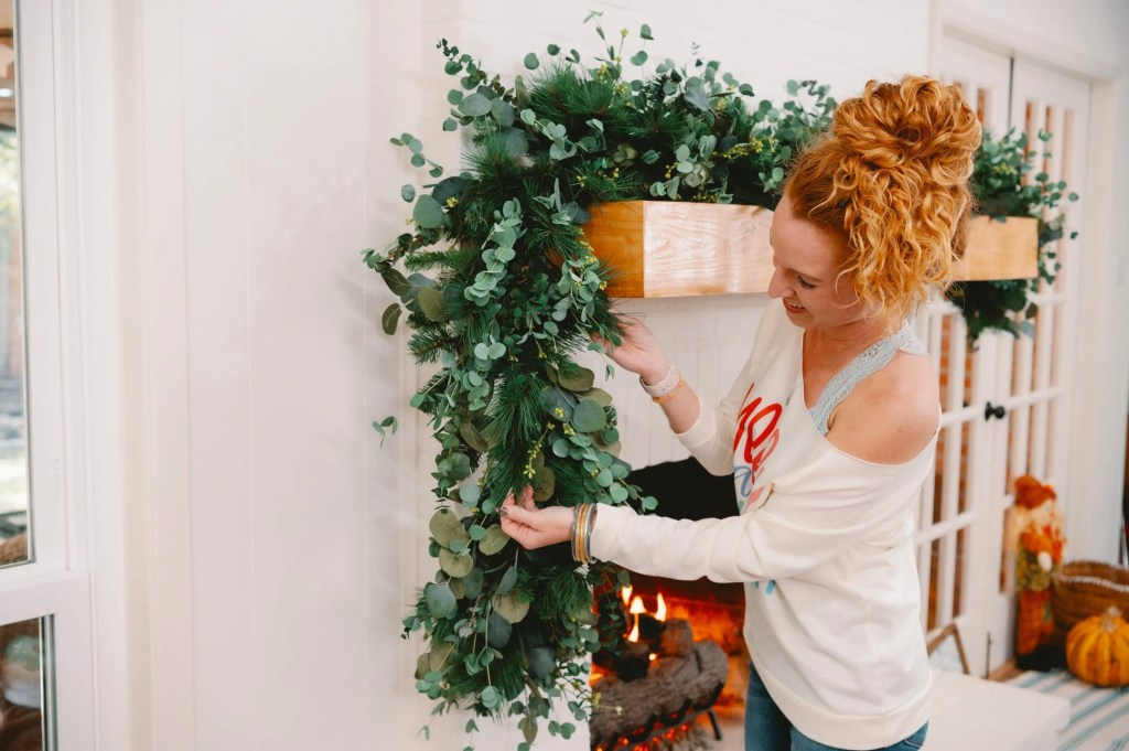 Eucalyptus and Pine Garland How to