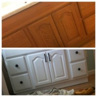 How to paint a bathroom vanity cupboard