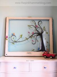 From old window to new piece of wall art. | Simple DIY ...