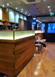upstairs at shogun ramen restaurant in brighton