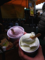 goat milk ice cream at Borough Market in London