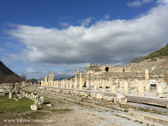 Ephesus, once, the trade centre of the ancient world.