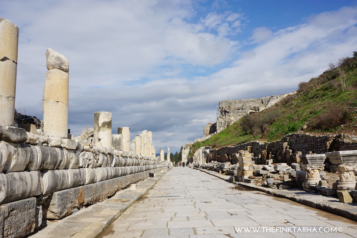 The Marble Way, a street from the Library of Celsus to the Grand Theater.