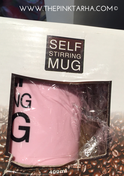 A self stirring mug that is not obvious. Oh, it says so in the mug. :P