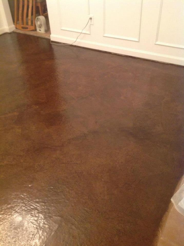 Brown Paper Bag Floor  thepinktoolbox