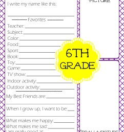 Free Printables} Kid's End of School Year Interview • The Pinning Mama [ 3300 x 2550 Pixel ]