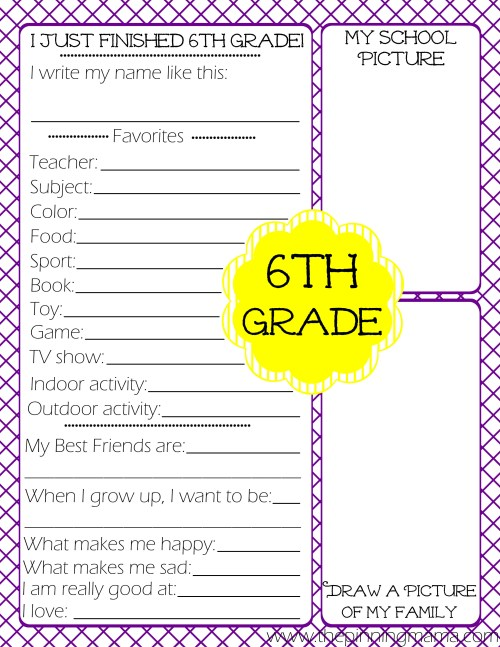 small resolution of Free Printables} Kid's End of School Year Interview • The Pinning Mama