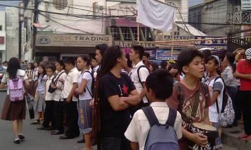 holy angel university teacher's strike 05