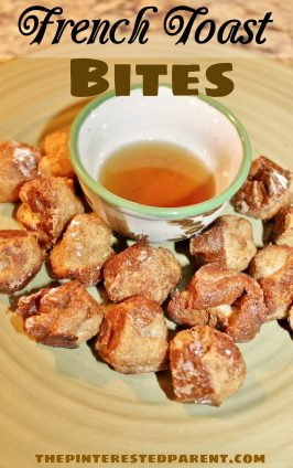 French toast balls. These popable bite sized balls are easy to make & fun to eat. Great for the kids