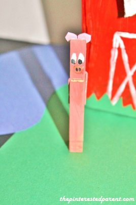 clothespin pig