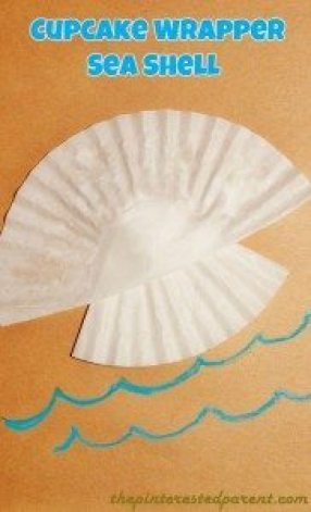 Cupcake Wrapper Sea Shell
