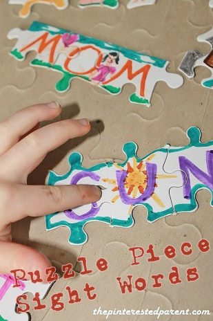 Puzzle Piece Sight Words