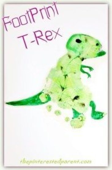 Footprint T-Rex - tyrannosaurus rex dinosaur craft
