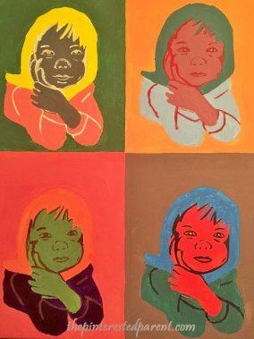 Pop Art - Andy Warhol inspired portrait pop art