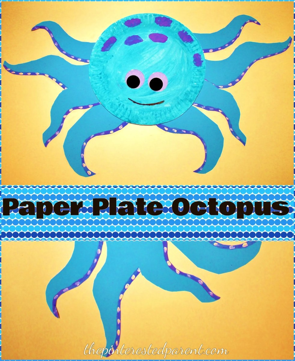 octopus paper plate craft paper plate octopus the pinterested parent 5042