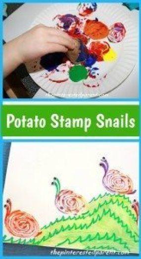 Potato Stamp Snails