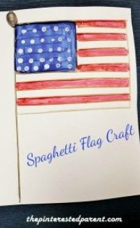 Spaghetti Flag Craft