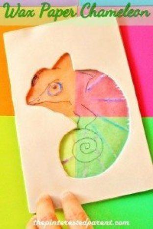 Wax Paper Chameleon
