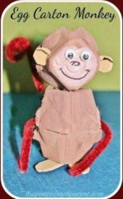 Egg Carton Monkeys