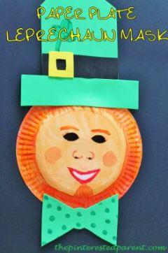 Paper Plate Leprechaun Mask
