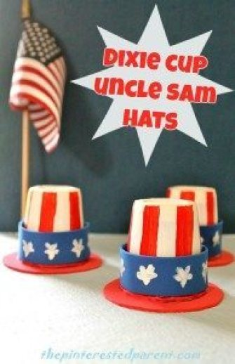 Mini Uncle Sam Hats made from Dixie Cups 4th of July craft