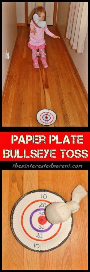 Paper Plate Bullseye Toss