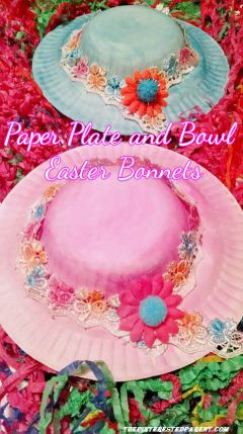paper plate bowl easter bonnets