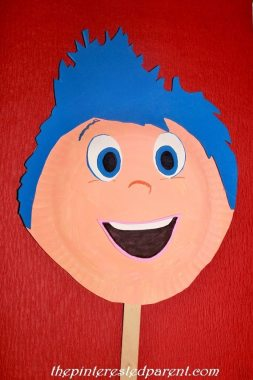 Inside Out Character Paper Plate Mask - Joy