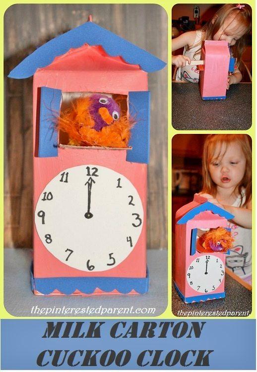 milk carton cuckoo clock the pinterested parent. Black Bedroom Furniture Sets. Home Design Ideas