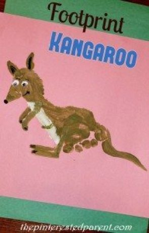 Footprint Kangaroo - Footprint Craft A-Z K is for Kangaroo