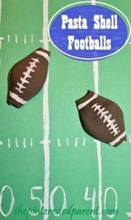 Football Pasta Shell Craft
