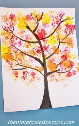 Cauliflower Stamp Fall trees