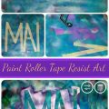 Paint Roller Tape Resist Art
