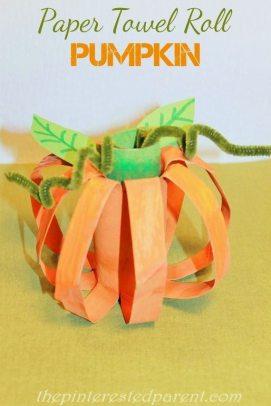 Paper Towel Roll Pumpkin Craft