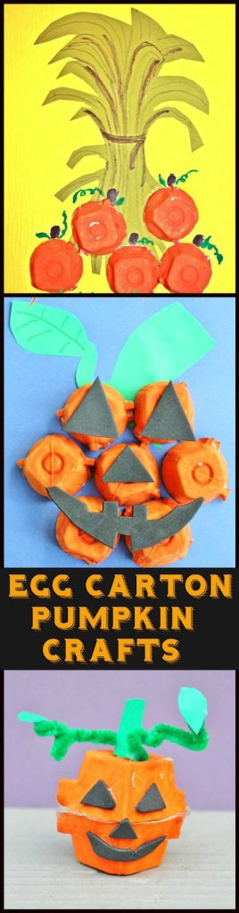 Egg Carton Pumpkin & Jack-o-Lantern Crafts
