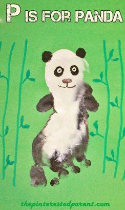P is for Panda footprint craft