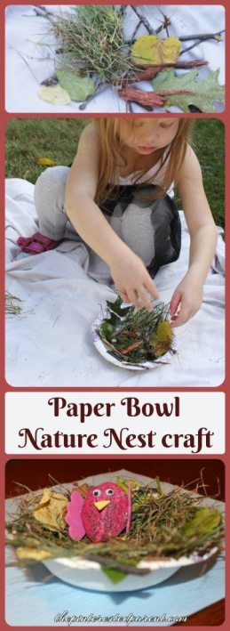 Paper Bowl Nature Nest Craft