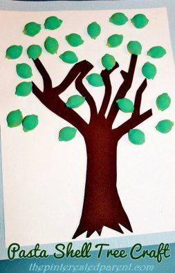 Pasta-Shell-Tree-Craft