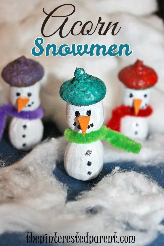 Acorn Snowmen The Pinterested Parent