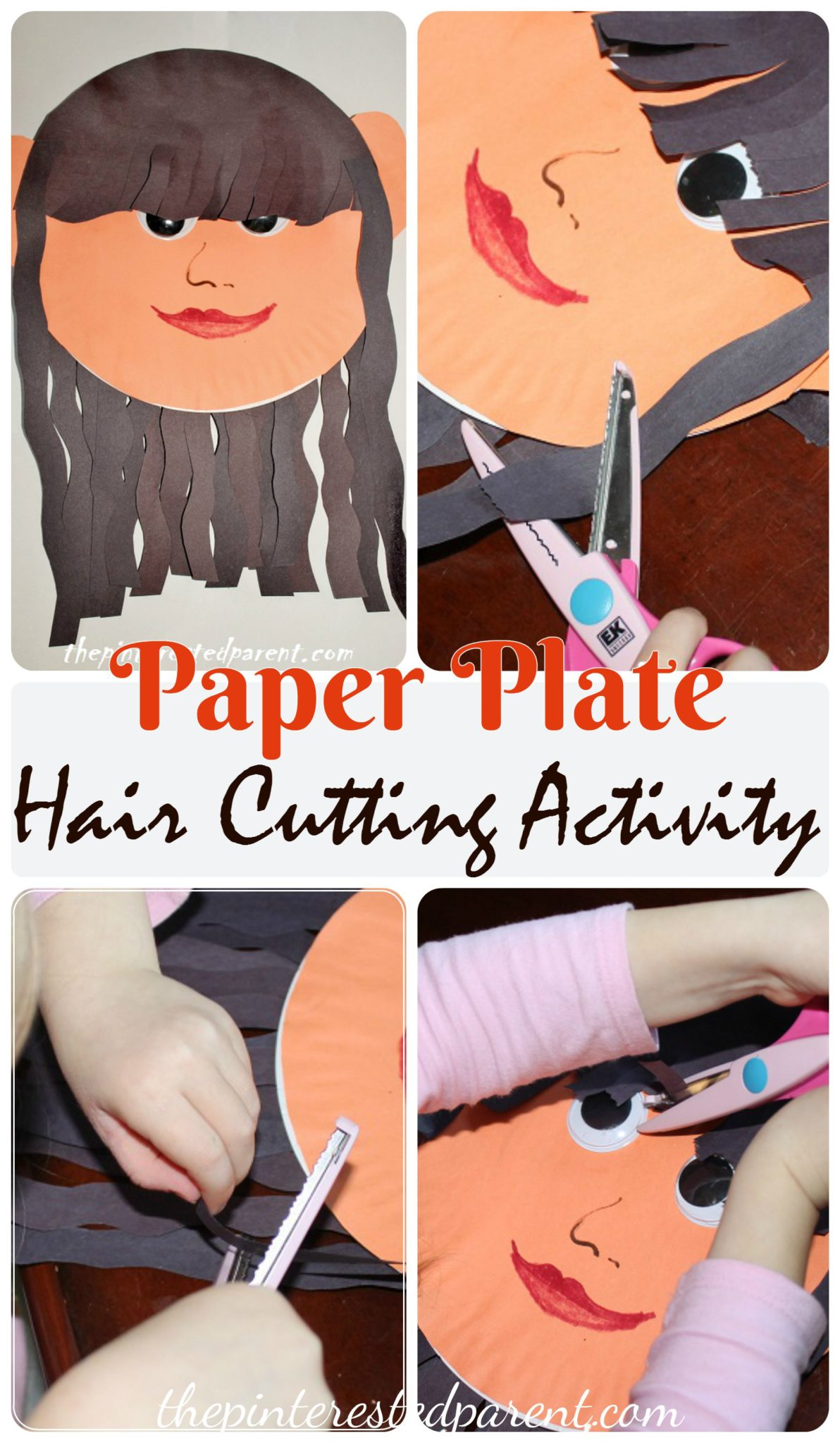 Paper Plate Hair Cutting Activity The Pinterested Parent