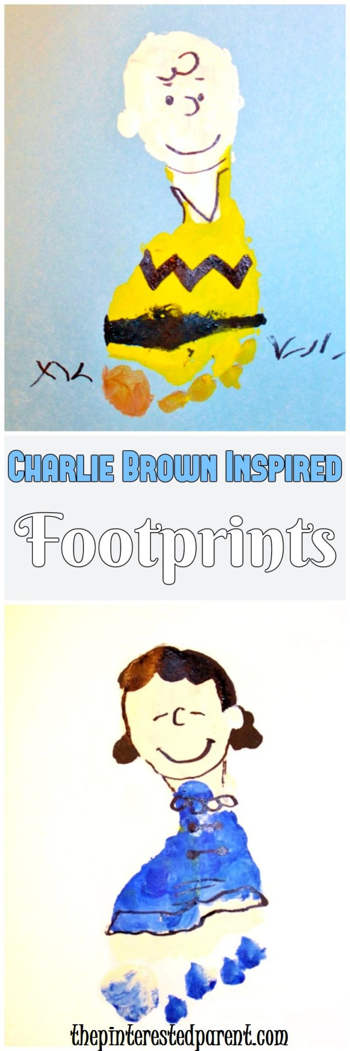 Charlie Brown Inspired Footprint Crafts – The Pinterested Parent