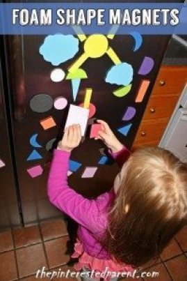 Foam Shape Magnets for imagination play