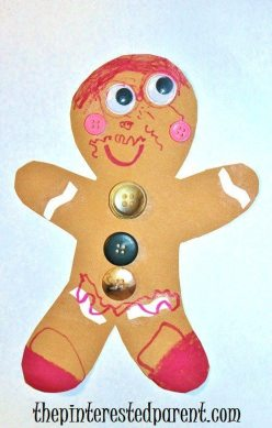 Gingerbread Man Christmas craft for kids