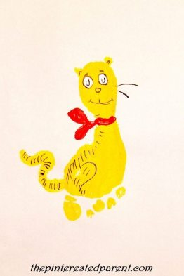 This footprint cat craft is inspired by What Pet Should I Get by Dr. Seuss 0