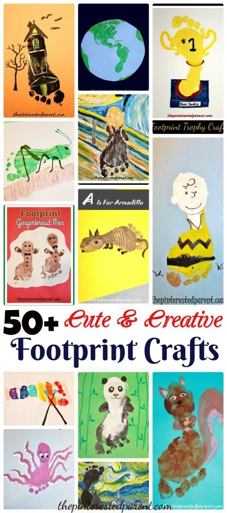 50+ Cute & Creative Kid's Footprint Crafts