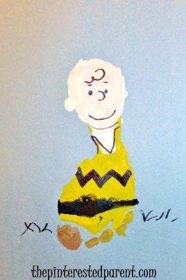 Footprint Charlie Brown Craft - Peanuts