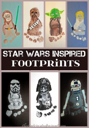 Star Wars Inspired Footprint Crafts - Adorable Keepsakes made out of kid's feet