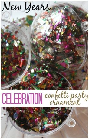 Confetti Ornaments from Little Bins For Little Hands